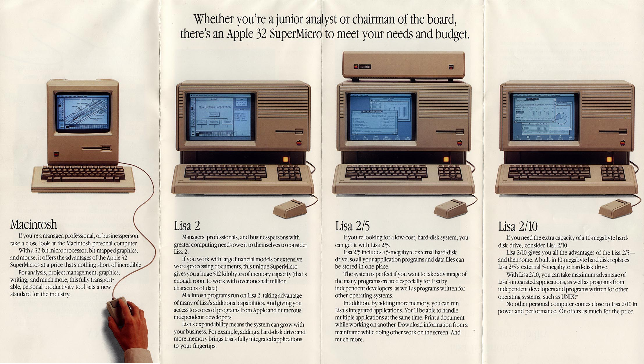View an original apple lisa usa advertisement (416kb.)